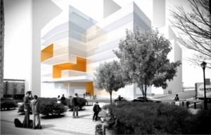 The future Collegiate School, from the outside.
