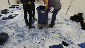 Indigo dyeing with Boyer at Participant. (Courtesy the artist, Participant and Vogt Gallery)