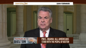 Pete King on Morning Joe. (Screengrab: MSNBC)