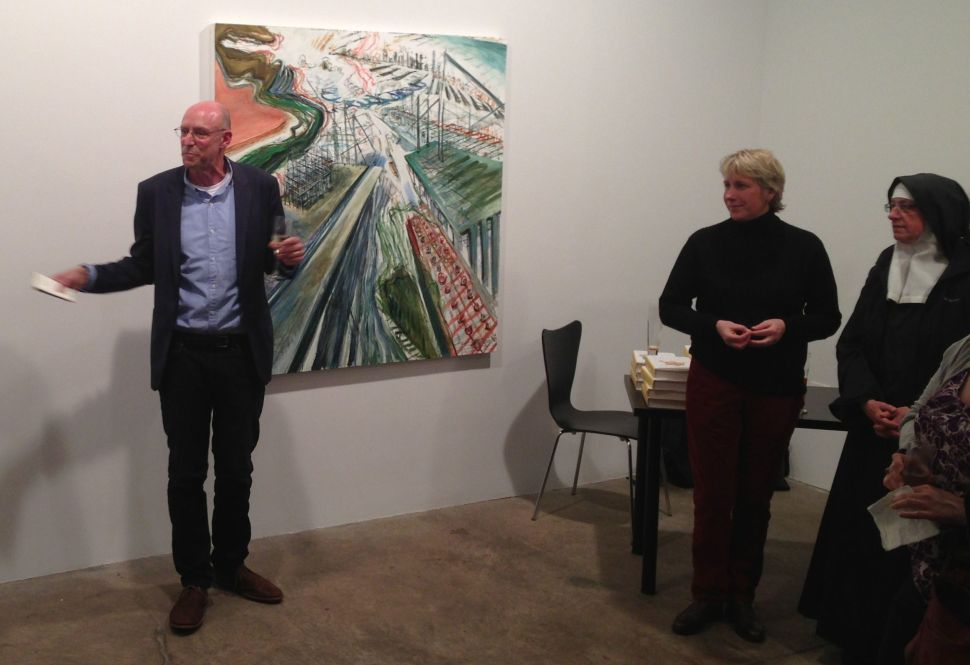 Author Michael Pollan among friends. (Photo: Ken Kurson)