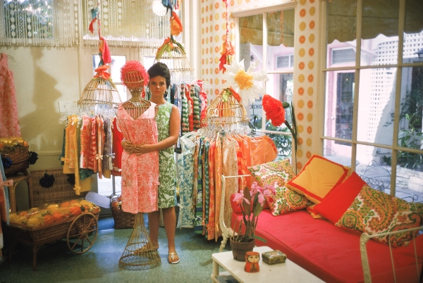 Lilly Pulitzer in her first shop off Via Mizner in Palm Beach in 1962 (Photographed by Howell Conant)Lilly in her first shop off Via Mizner in Palm Beach in 1962 (Photographed by Howell Conant)