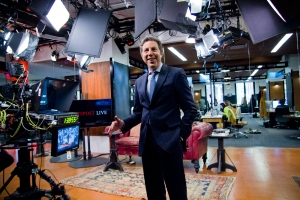 President of HuffPost Live Roy Sekoff on the set. (Photo credit:
