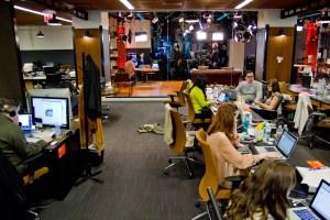 The HuffPost Live Newsroom. (Photo credit: Shao-yu Liu)