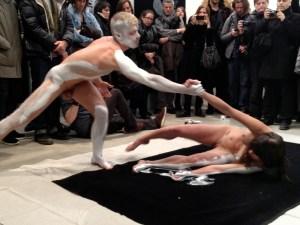 A still from Rosenberg's performance. (Courtesy Stefan Roemer)