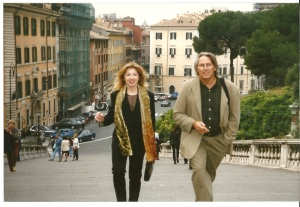 Gornik and Fischl in Rome on their honeymoon in 1998.