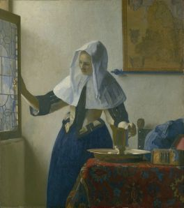 Vermeer, 'Young Woman with a Water Pitcher,' ca. 1662.