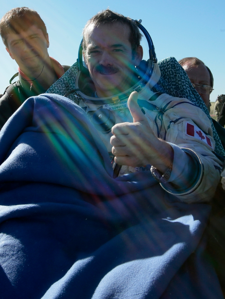 Rock star spaceman Chris Hadfield. (MIKHAIL METZEL/AFP/Getty Images)