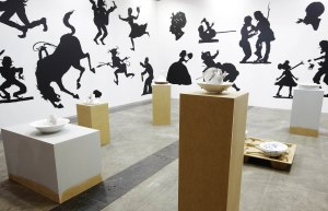 Works by Kara Walker at Sikkema Jenkins Co.'s booth.