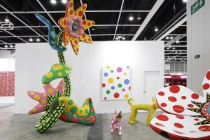 Works by Yayoi Kusama, shown by Victoria Miro, and Ota Fine Arts.
