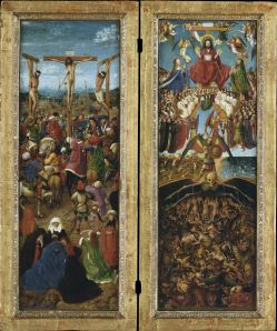 Jan van Eyck and Workshop Assistant, 'The Crucifixion; The Last Judgment,' ca. 1430. (Courtesy the Metropolitan Museum of Art)