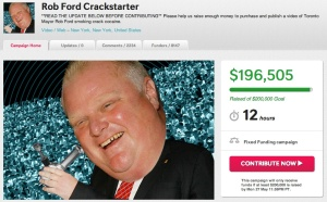 Screenshot of Gawker's 'Crackstarter.'