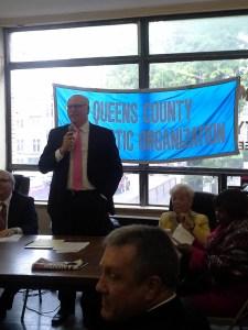 Queens Democratic Party Chair Joe Crowley announced his endorsements.
