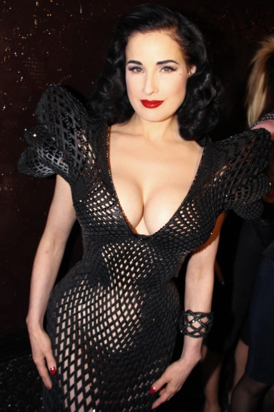 Dita Von Teese in her 3D dress.