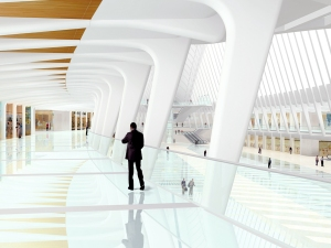 With the Port's permission, Mr. Calatrava went all out in his design for the train station.