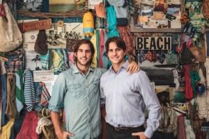 Alex and Mike Faherty, swimwear designers.