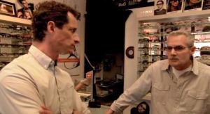 Anthony Weiner talking to Charlie in his announcement video. (YouTube)