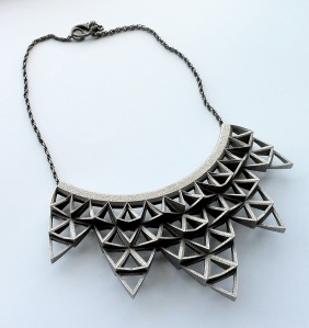 3D arrowhead necklace.