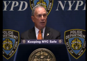 Mayor Bloomberg delivering his speech last wee. (Photo: NYC.gov)