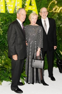 Michael Bloomberg with Cindy Sherman and Ellsworth Kelly. (Courtesy Patrick McMullan)
