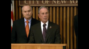Mayor Michael Bloomberg and Police Commissioner Ray Kelly discussing the recent hate crimes. (Photo: nyc.gov)