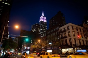 The Empire State Building Lit  Up For FT. (Photo credit: The Financial Times).