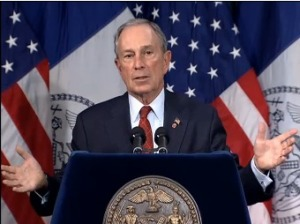 Mayor Michael Bloomberg delivering his final budget speech. (Photo: nyc.gov)