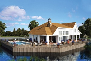 The clubhouse at Bishop's Pond, site of a new development.