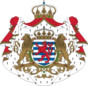 The coat of arms of the Grand Duchy of Luxembourg. (Courtesy Wikimedia)
