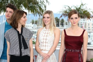 Director Sofia Coppola, second from left, with the cast of The Bling Ring.