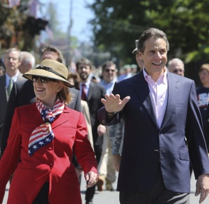 Two presidential candidates marching yesterday together. (Photo: NY Governor's Office/Flickr)