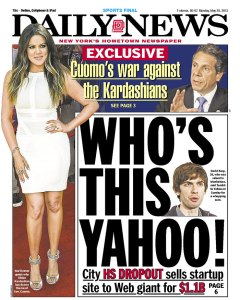 """EXCLUSIVE: Cuomo's war against the Kardashians."" (Photo: Newseum)"