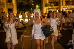 Diner en Blanc attendees in New York.