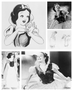 Champion with drawings of Snow White. (© Disney)