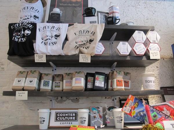 Everyman Espresso merchandise (Getty Images).