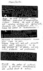 A 1963 Fluxus manifesto. (© Estate of George Maciunas/Wikicommons)