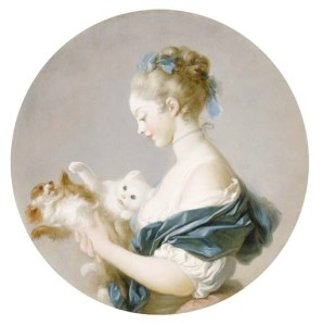 Fragonard's 'Girl Playing With a Dog and a Cat,' ca. 1775–90.
