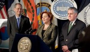 City Council Speaker Christine Quinn and Councilman James Gennaro. (Photo: Facebook)