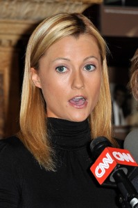 Ginger Lee speaking to the media about then-Rep. Weiner on June 15, 2011. (Photo: Getty)