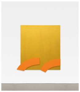 'Gold with Orange Reliefs 2013.' (© Ellsworth Kelly, courtesy the artist and Matthew Marks Gallery)