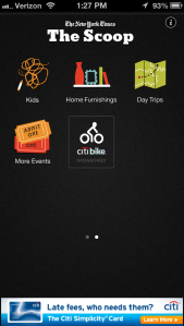 Screenshot of the app with the new Citi Bike section