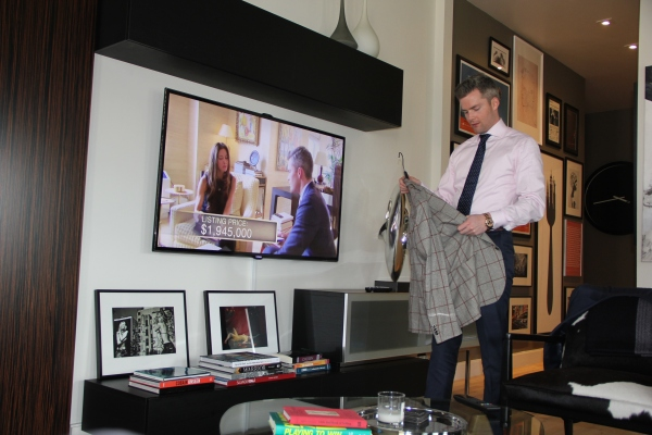 Ryan Serhant, at home and on TV.