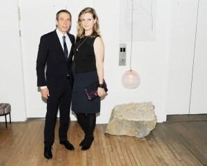 Jeff Koons, Justine Wheeler, stone. (Courtesy Patrick McMullan)