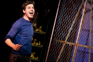 Sands in 'Kinky Boots.' (© Joan Marcus)