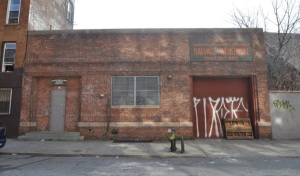 The old LPC architectural salvage warehouse that currently stands at the site.