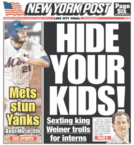 The New York Post today. (Photo: Newseum)