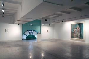 DSM-V installation view (from L to R): Piero Manzoni, Dash Snow, Pablo Picasso, Julian Schnabel. (Courtesy Vito Schnabel)