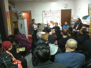 Reshma Saujani meeting with ASAAL's Bronx chapter. (Photo: Twitter/ASAAL08)