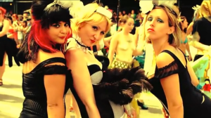 Mermaid Parade-goers pose and pout for the camera (Featured in the Mermaid Parade Kickstarter video)
