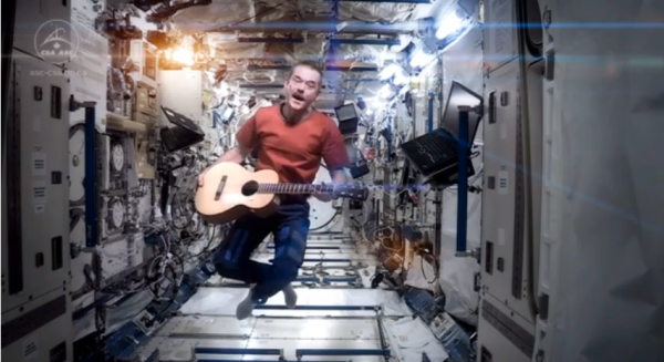 Chris Hadfield casually singing aboard the International Space Station (YouTube)
