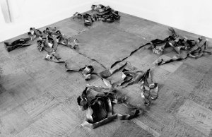 'Tearing Lead From 1.00 to 1.47' (1968) by Serra. (Courtesy the artist and David Zwirner)